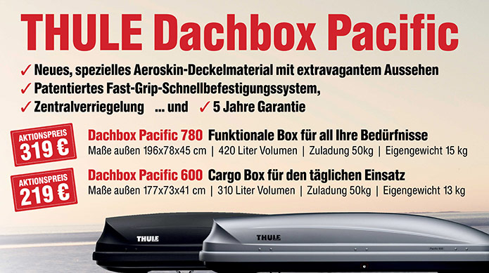 Die THULE Dachbox Pacific